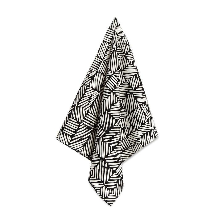 Juustomuotti Geschirrtuch 46 x 50 cm in schwarz / weiß von Marimekko