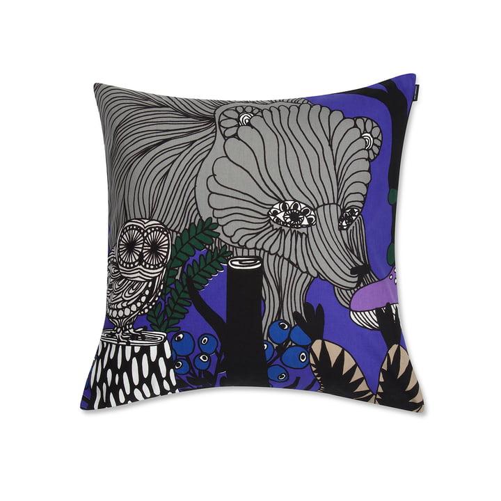 Veljekset Kissenbezug von Marimekko - 50 x 50 cm, violett, schwarz, grau, beige