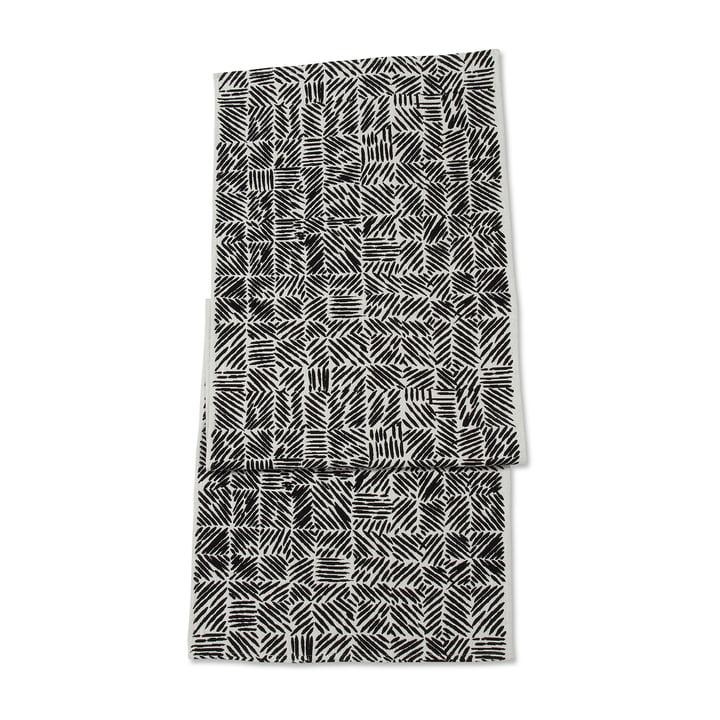 Juustomuotti Tischläufer 47 x 150 cm in schwarz / weiß von Marimekko