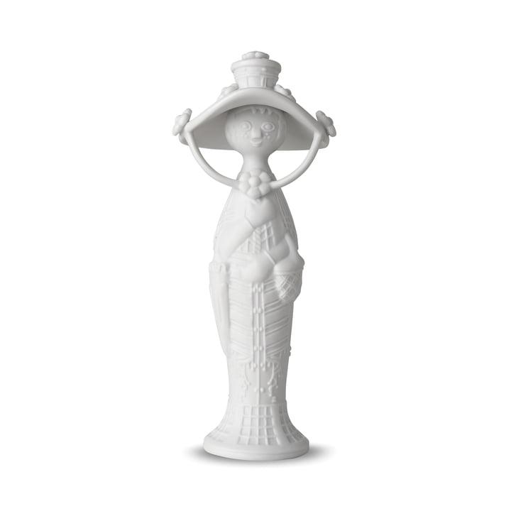 Vier Jahreszeiten Figur, Herbst H 17,5 cm in weiß von Bjørn Wiinblad