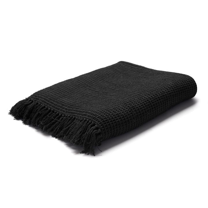 Land Tagesdecke / Wolldecke in schwarz von Juna