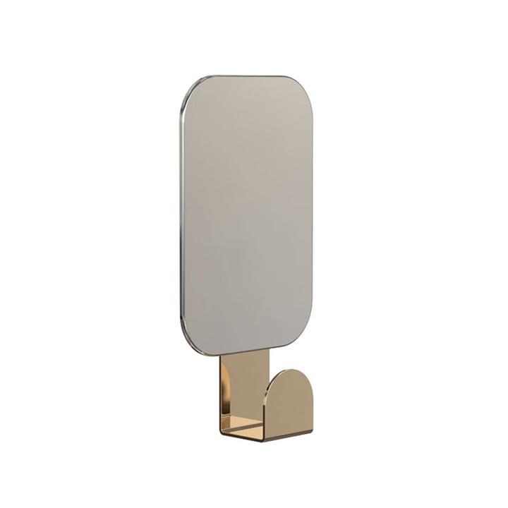 Spiegel U4121 mit Haken in rechteckig / Gold von Frost