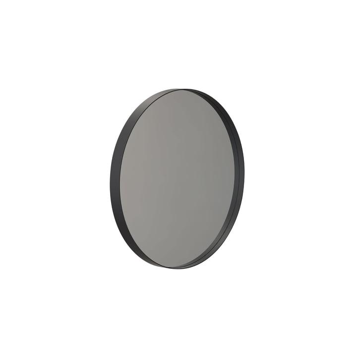 Runder Unu Wandspiegel 4134, Ø 40 cm in schwarz von Frost