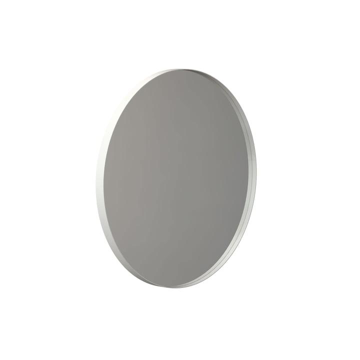 Runder Unu Wandspiegel 4130, Ø 60 cm in weiß von Frost
