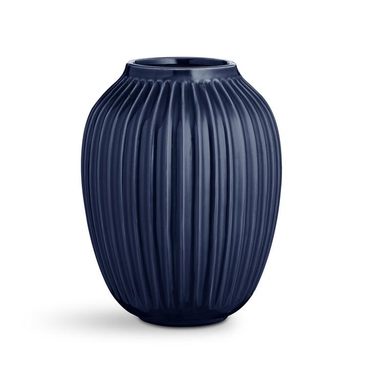 Dunkelblaue Hammershøi Vase von Kähler Design
