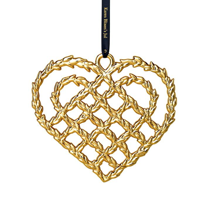 Flechtherz H 10.8 cm, gold von Rosendahl
