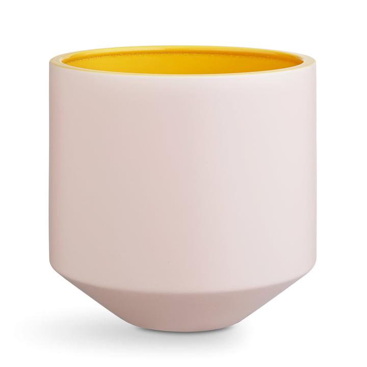 Kähler Design - Fiora Übertopf H 25 cm, pink / gelb