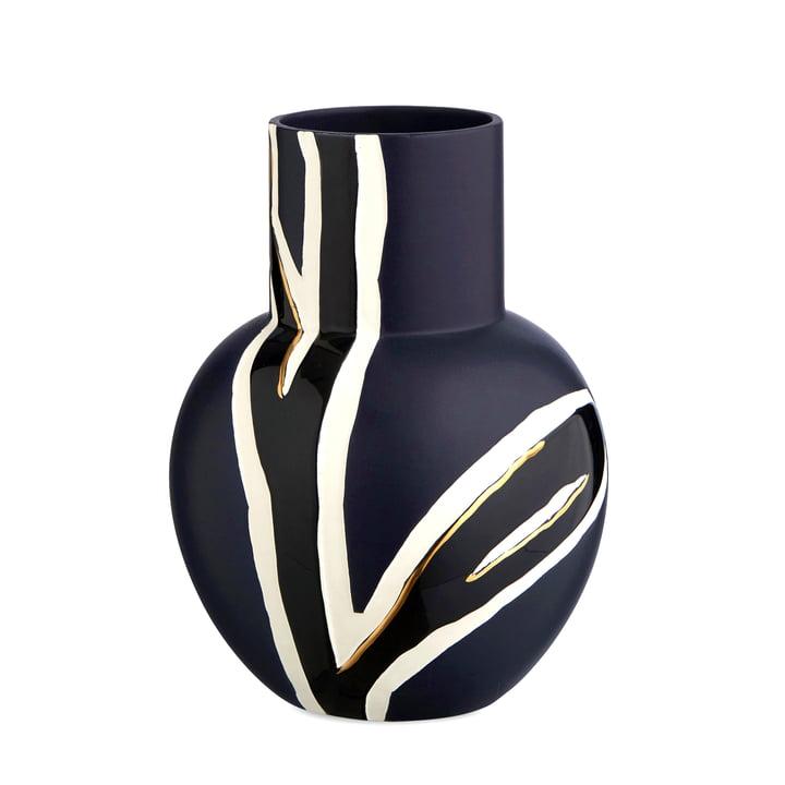 Die Kähler Design - Fiora Vase H 25 cm, mitternachtsblau