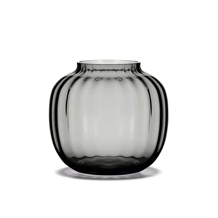 Die Primula Vase H 12,5 cm in smoke von Holmegaard