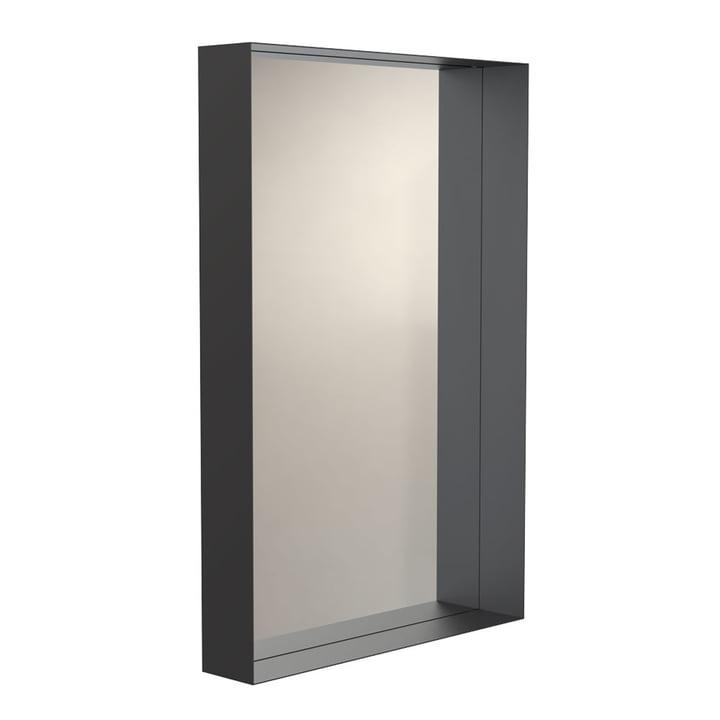 Unu Wandspiegel 4128 mit Rahmen, 60 x 90 cm in schwarz von Frost