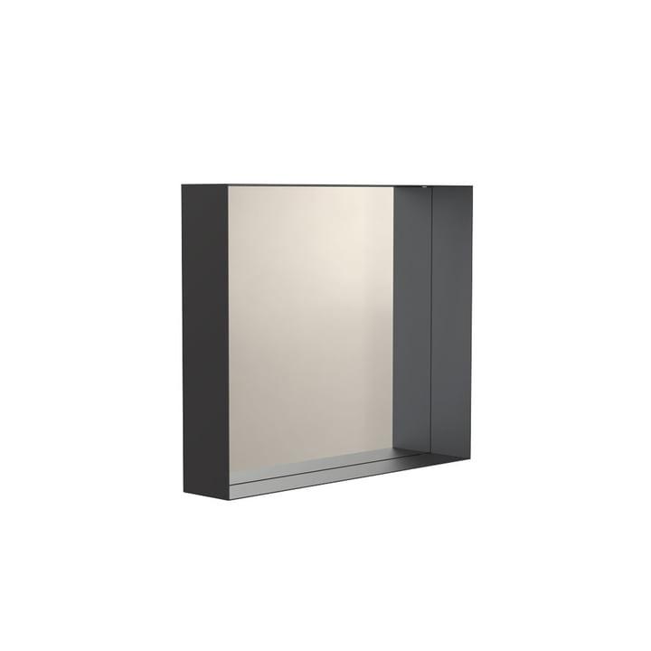 Unu Wandspiegel 4127 mit Rahmen, 50 x 60 cm in schwarz von Frost