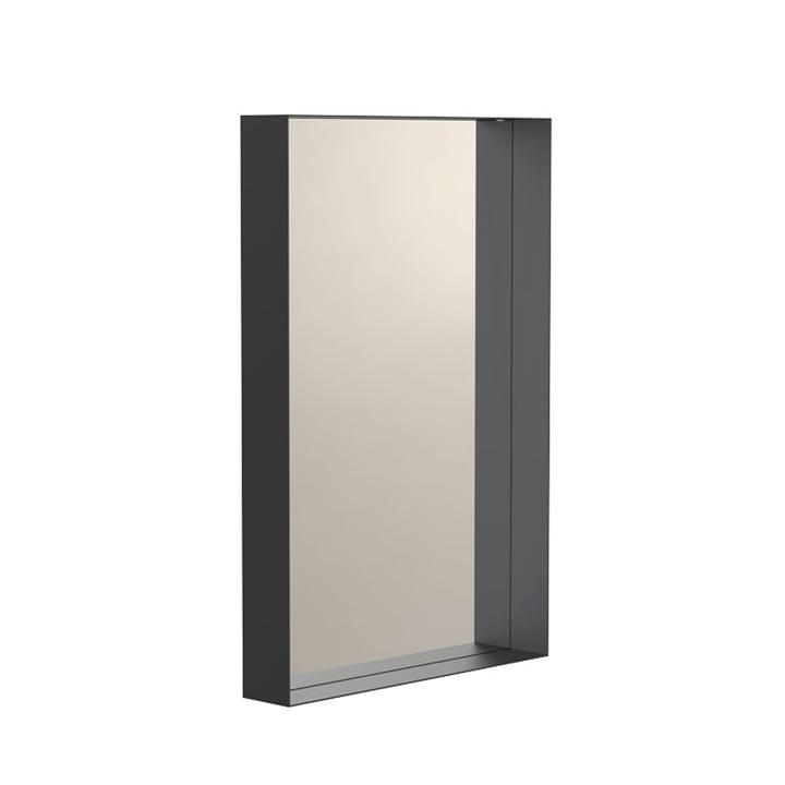 Unu Wandspiegel 4133 mit Rahmen, 40 x 60 cm in schwarz von Frost