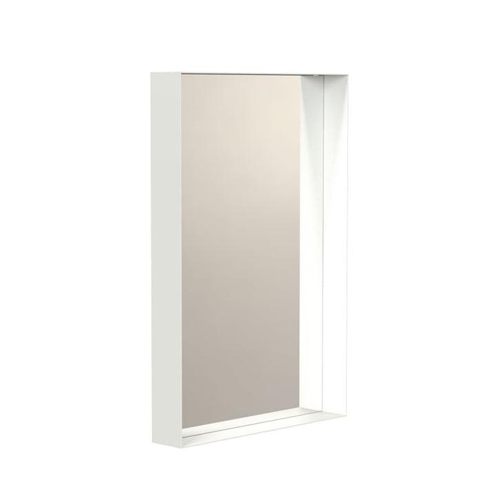 Unu Wandspiegel 4133 mit Rahmen, 40 x 60 cm in weiß von Frost