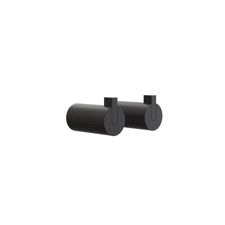 Nova 2 Wandhaken, Ø 16 x T 27 mm in schwarz (2er-Set) von Frost