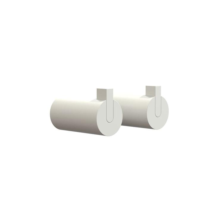 Nova 2 Wandhaken, Ø 25 x T 50 mm in weiß (2er-Set) von Frost