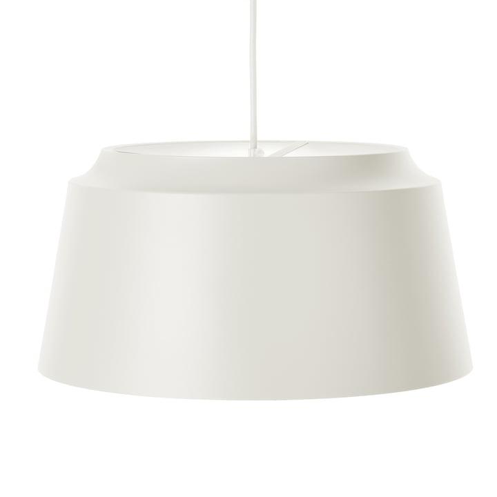 Groove Pendelleuchte von Puik, Ø 40 x H 20 cm in weiß