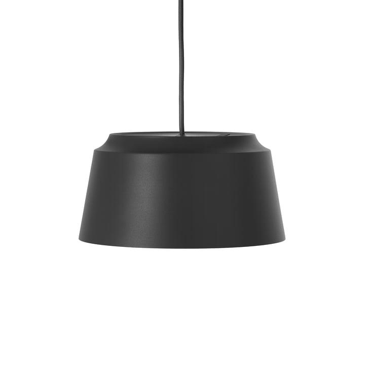 Groove Pendelleuchte von Puik, Ø 26 x H 13 cm in schwarz