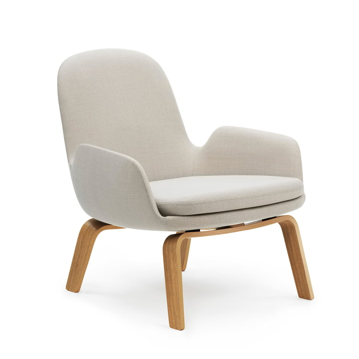 Era Lounge Chair Low von Normann Copenhagen in Eiche / hellgrau (Breeze Fusion 4104)