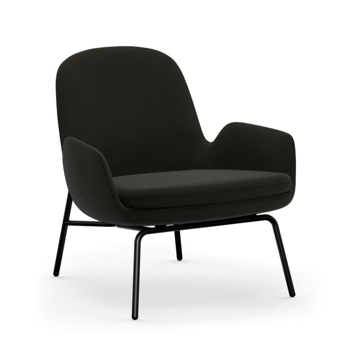 Era Lounge Chair Low von Normann Copenhagen in Aluminium schwarz / schwarz (Fame 61134)