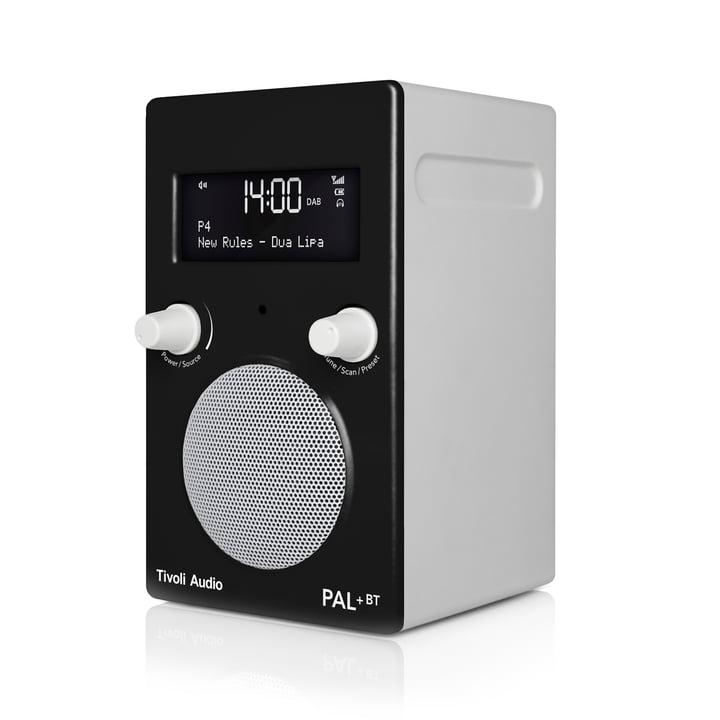 Pal+ BT inkl. Fernbedienung von Tivoli Audio in glänzend schwarz / weiß