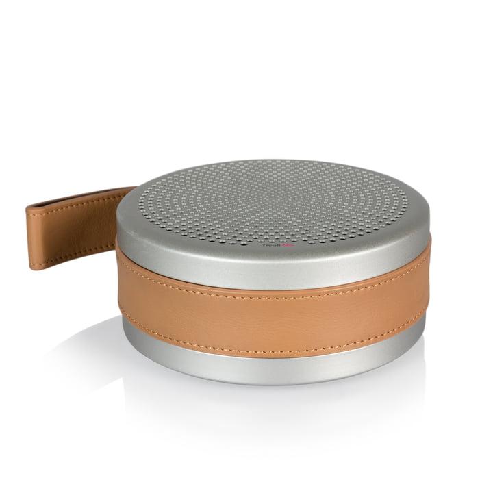 Andiamo Bluetooth Lautsprecher Ø 13,5 x H 5,5 cm von Tivoli Audio in silber