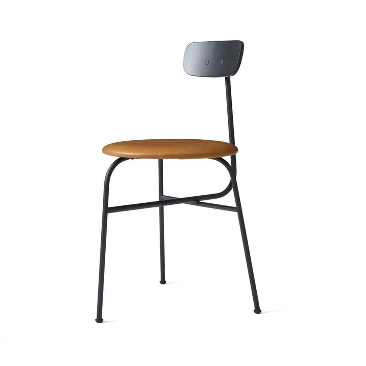 Afteroom Stuhl von Menu in schwarz / Leder cognac