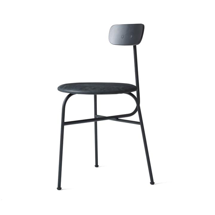 Menu - Afteroom Stuhl, schwarz / Leder schwarz