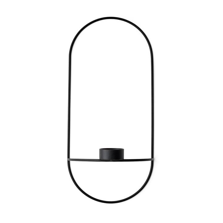 POV Teelichthalter oval von Menu in schwarz