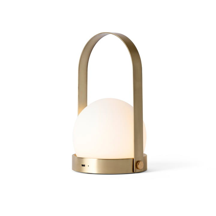 Carrie LED Lamp von Menu in Messing