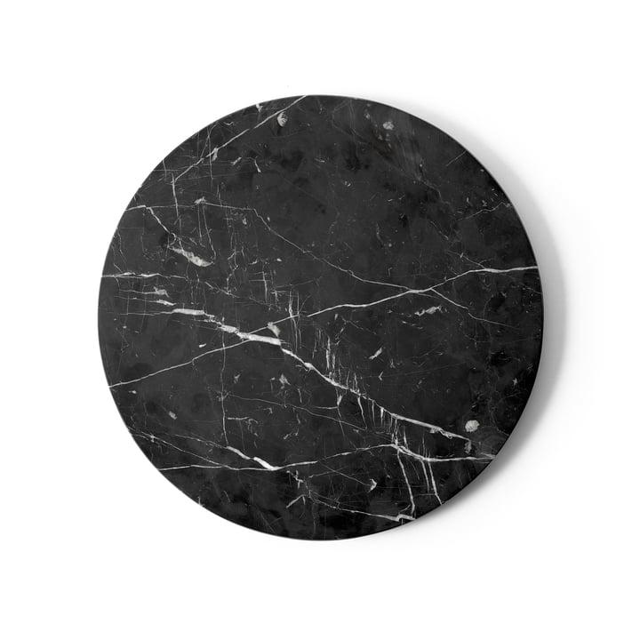 Tischplatte für Androgyne Beistelltisch Ø 42 cm von Menu in Marmor schwarz