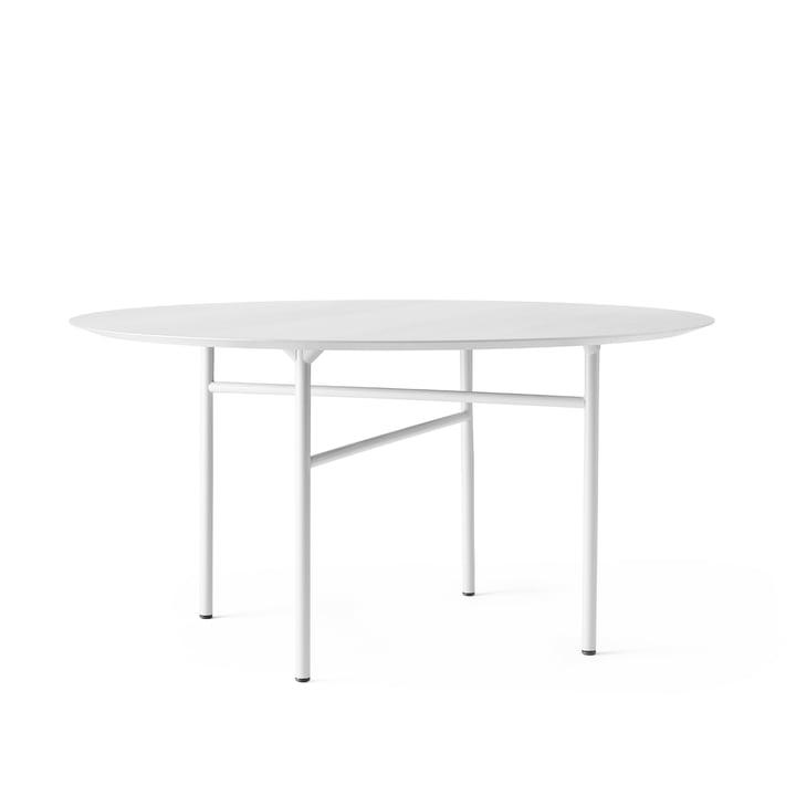 Snaregade Tisch Ø 140 cm von Menu in Eichenfurnier hellgrau gebeizt