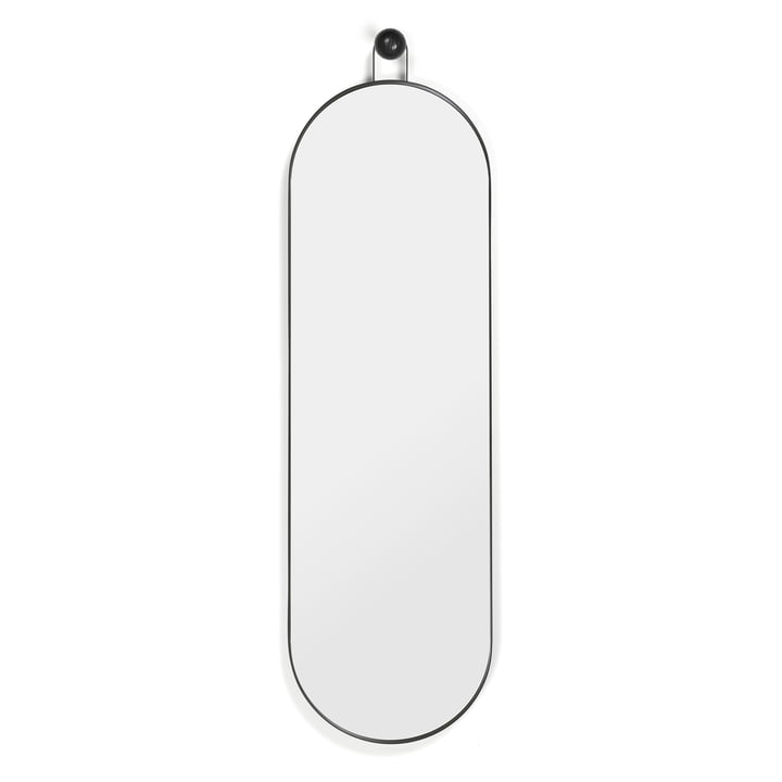 Poise Oval Spiegel 98,9 x 28,3 cm von ferm Living in schwarz