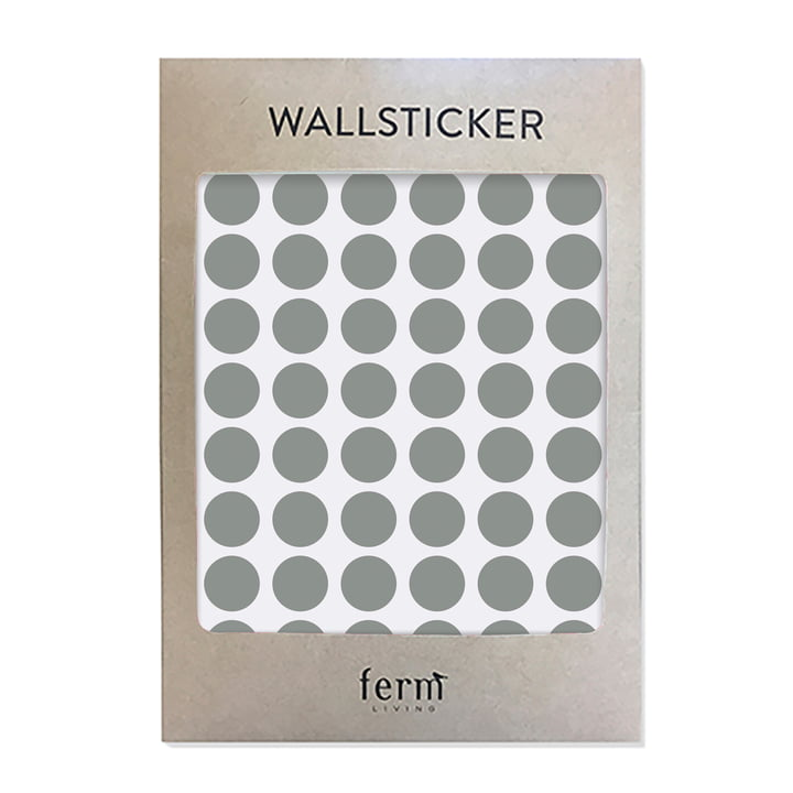 Mini Dots Wallsticker (54 Stck.) von ferm Living in grau