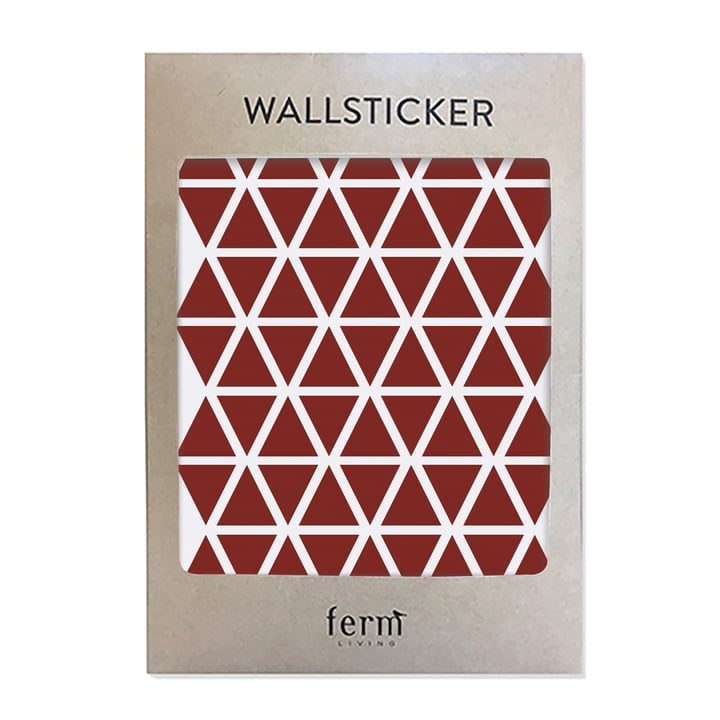 Mini Triangles Wallstickers (72 Stck.) von ferm Living in rot