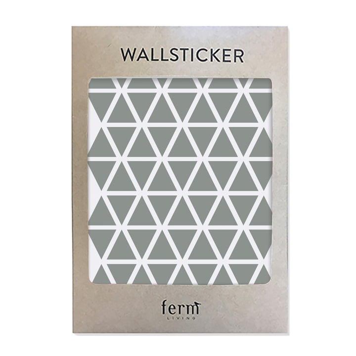 Mini Triangles Wallstickers (72 Stck.) von ferm Living in grau