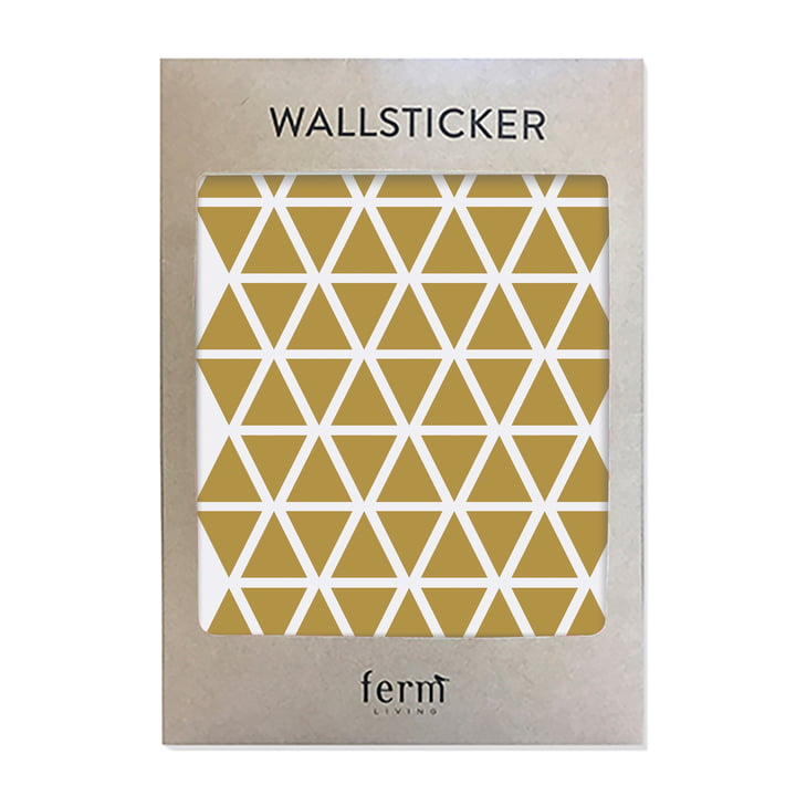 Mini Triangles Wallstickers (72 Stck.) von ferm Living in messing