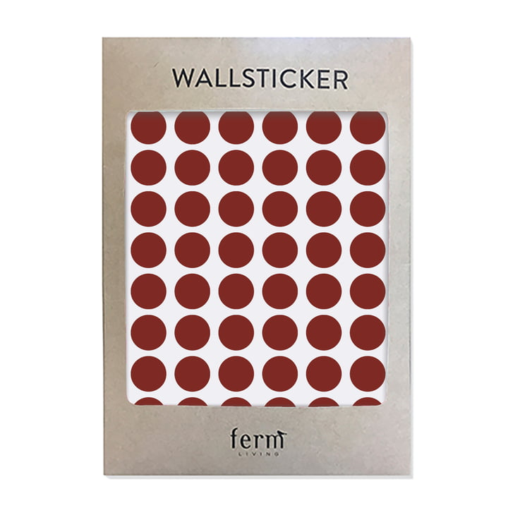 Mini Dots Wallsticker (54 Stck.) von ferm Living in rot
