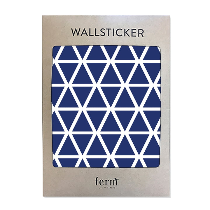 Mini Triangles Wallstickers (72 Stck.) von ferm Living in blau