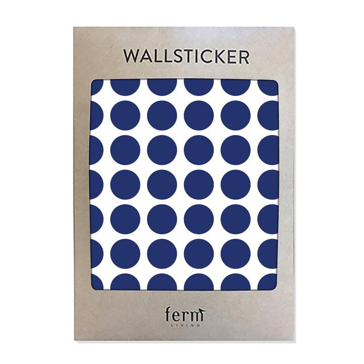 Mini Dots Wallsticker (54 Stck.) von ferm Living in blau