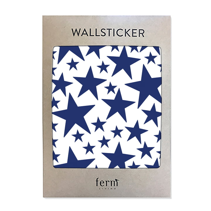 Mini Stars Wallstickers von ferm Living in blau