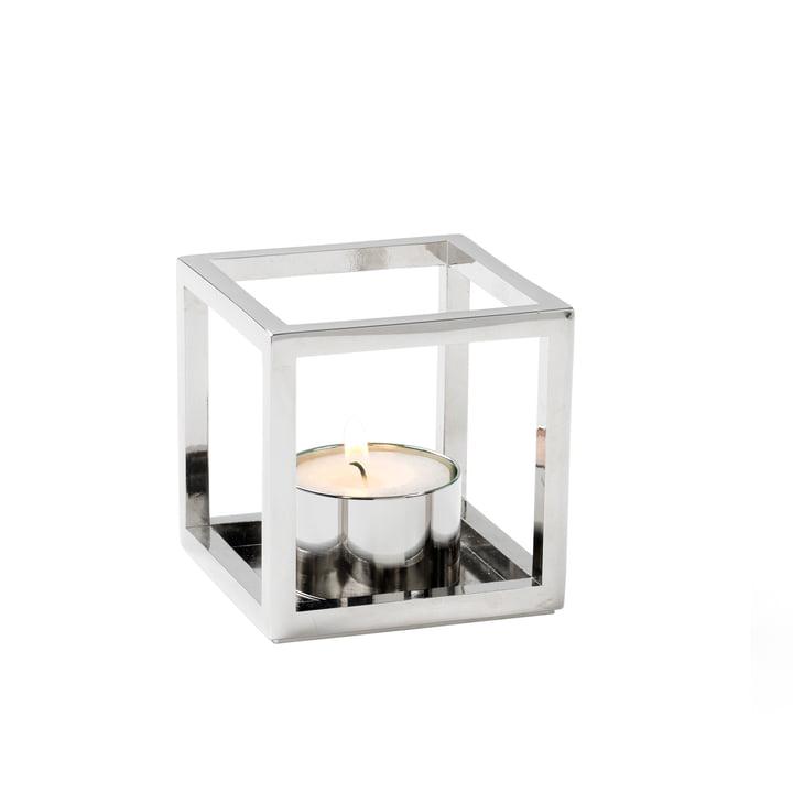 Kubus T Teelichthalter von by Lassen in Nickel