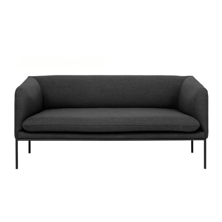 Turn Sofa (2-Sitzer) von ferm Living in Fiord dunkelgrau