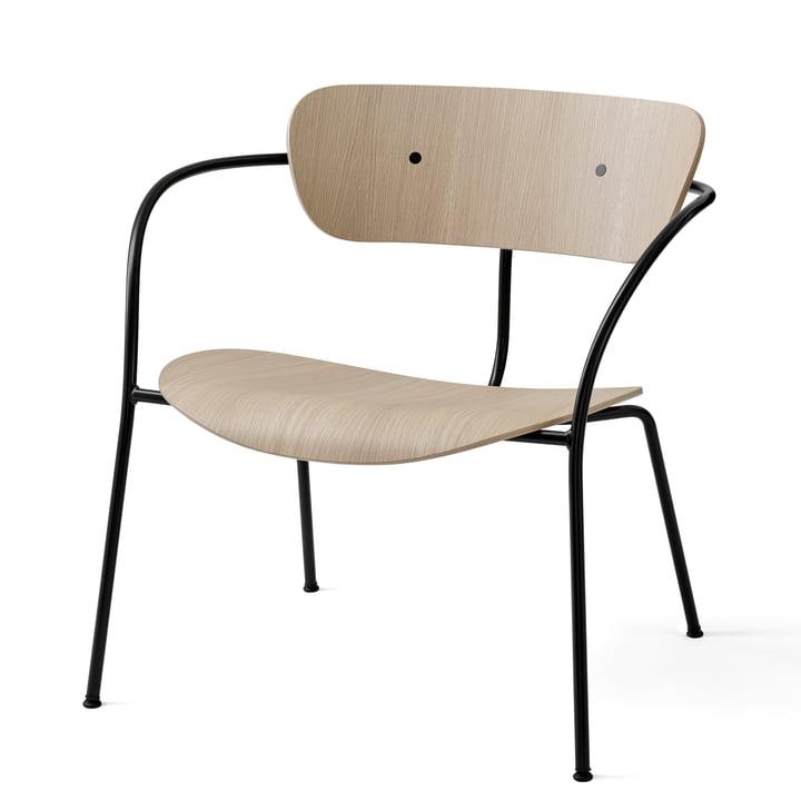 Pavilion Loungechair AV 5 von &tradition in schwarz / Eiche lackiert