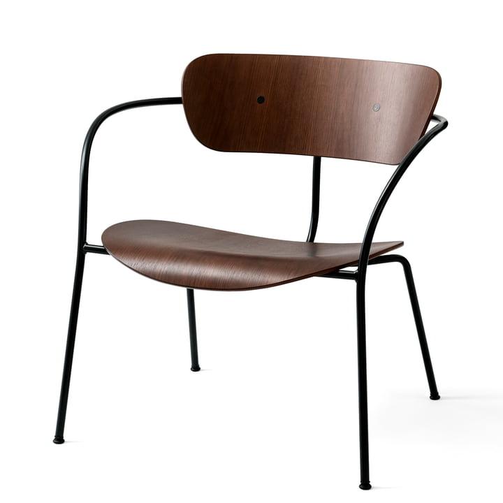 Pavilion Loungechair AV 5 von &tradition in schwarz / Walnuss lackiert