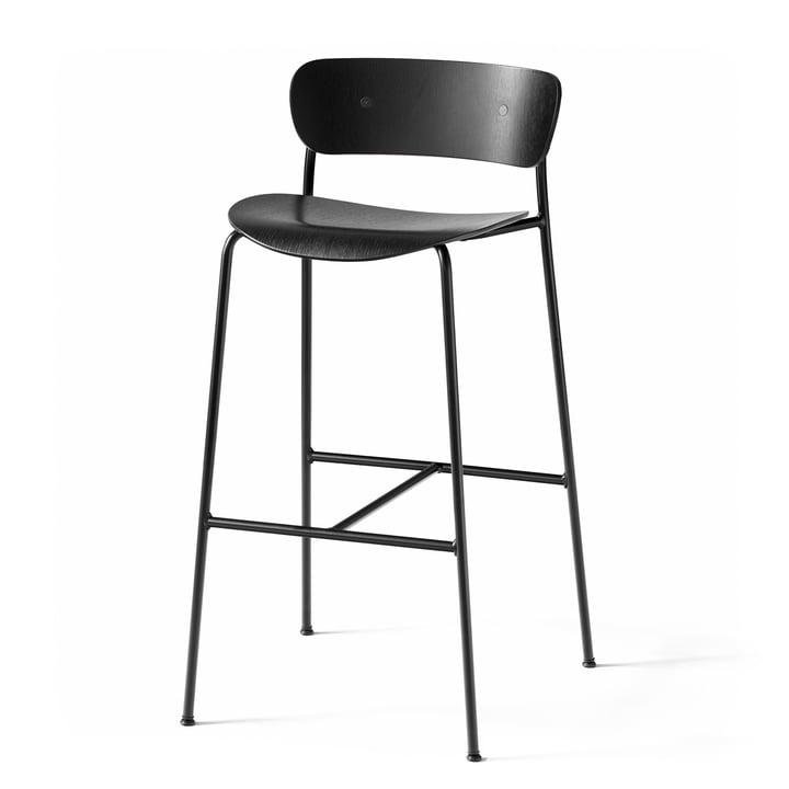 Pavilion Barhocker AV9 von &tradition - H 95 cm, schwarz / Eiche schwarz lackiert