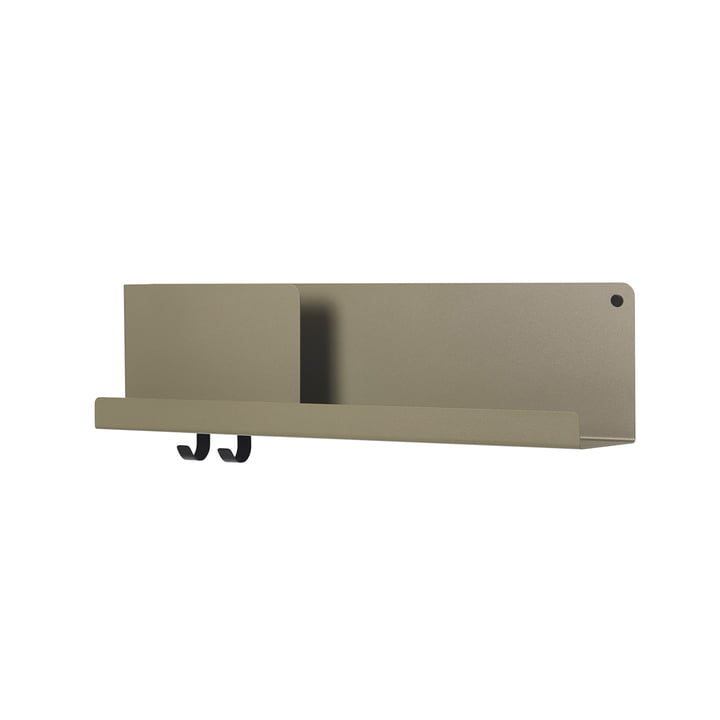 Folded Shelves 63 x 16,5 cm von Muuto in oliv