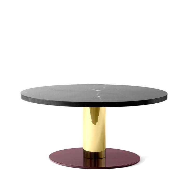 Mezcla JH20 Couchtisch von &tradition - Ø 80 x H 40 cm, Marmor schwarz / Messing / burgund