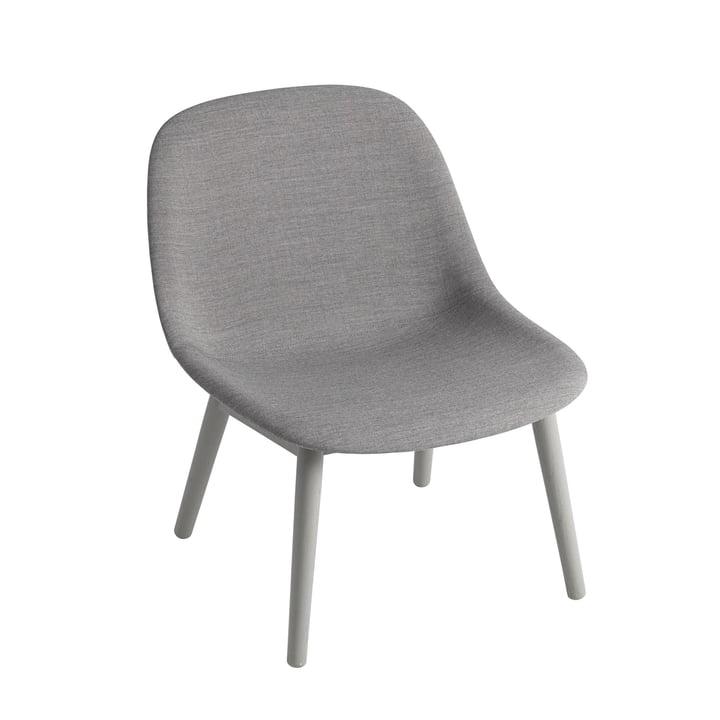 Fiber Lounge Chair Wood Base von Muuto in Eiche grau / grau (Remix 133)