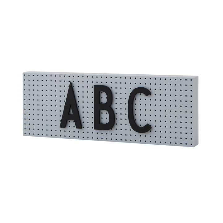 The Sign Nachrichtentafel small von Design Letters in grau