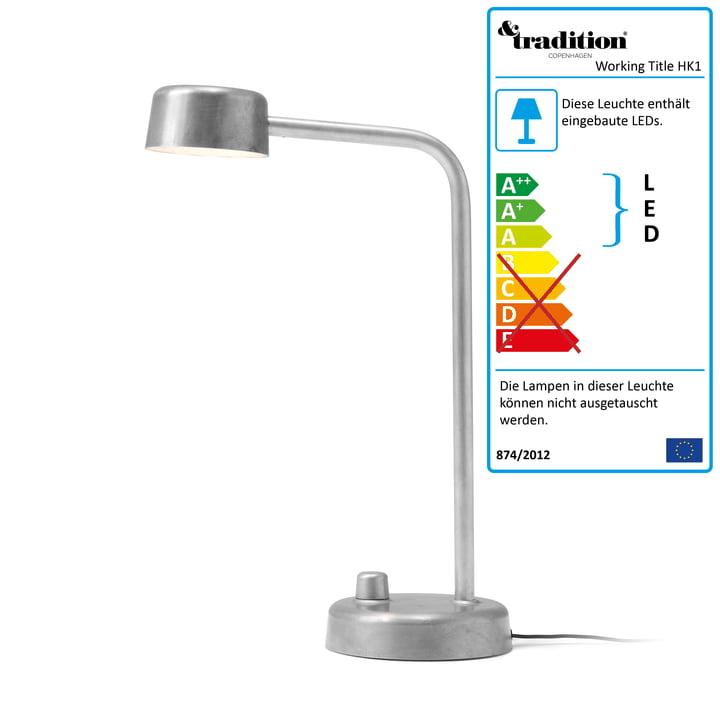 Working Title HK1 LED-Tischleuchte von &tradition -  Aluminium poliert